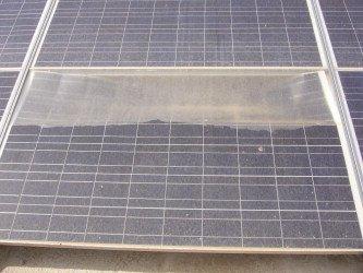Delaminated Solar Panel