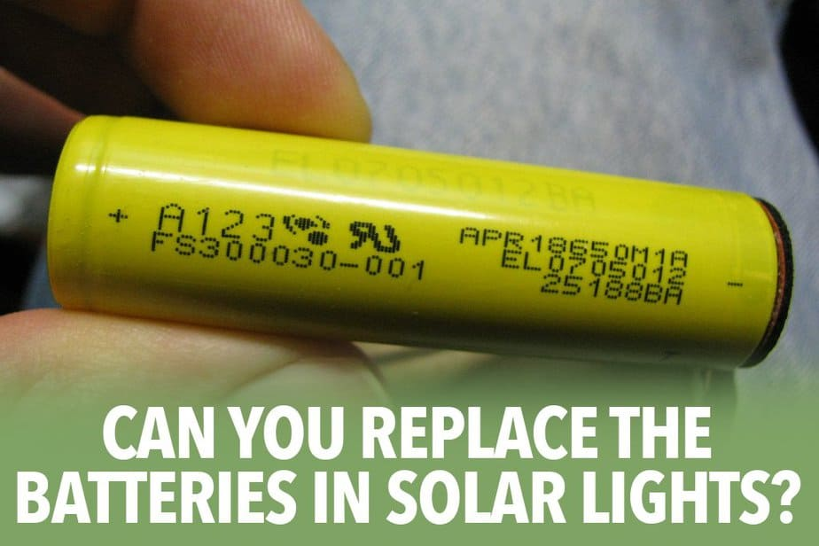 Can you replace the batteries in solar lights?